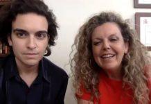 Concha Pérez Curiel y Ernesto Naranjo durante la entrevista