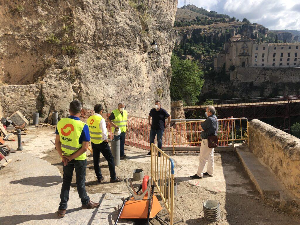 La reconstrucción del muro de la calle Canónigos comenzará en unos diez días